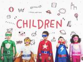 Fotografie Kinder in Superhero Kostüme
