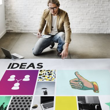 businessman working with Ideas