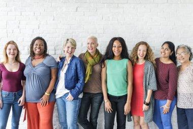 diversity smiling women