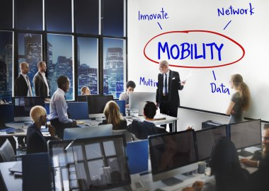 business people working and Mobility