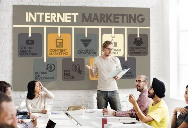 business meeting with Internet Marketing