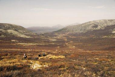 Three boys return to nomadic home