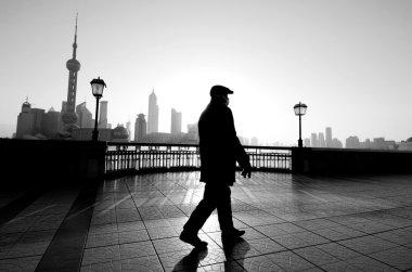 Man walking in Shanghai