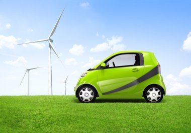 Electric Green Car