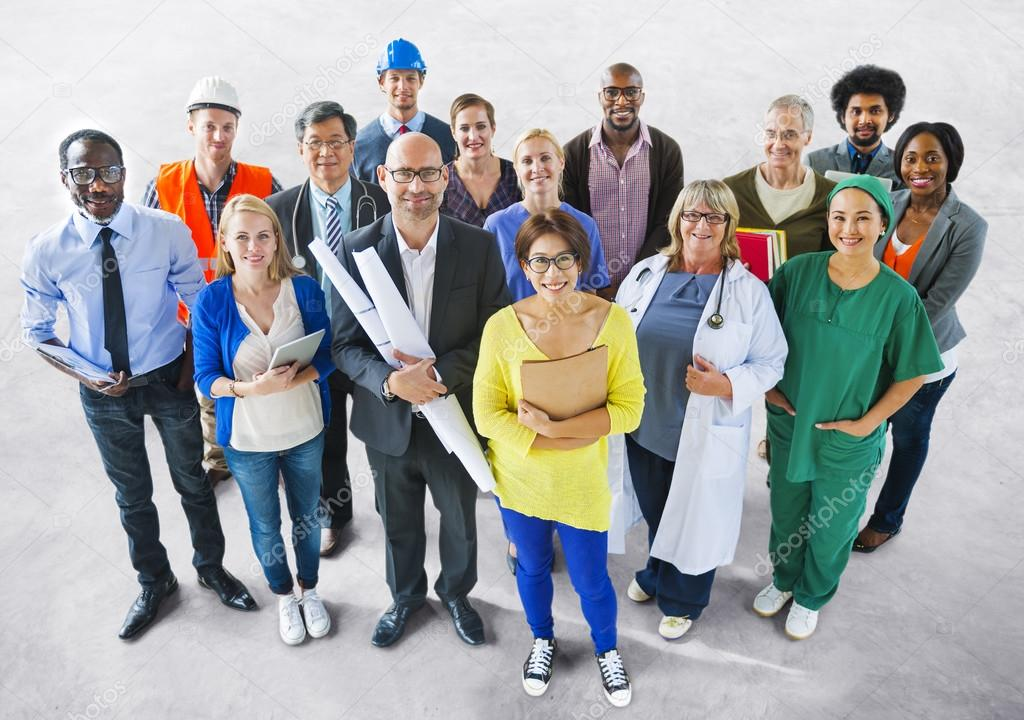 Diverse People with Different Jobs