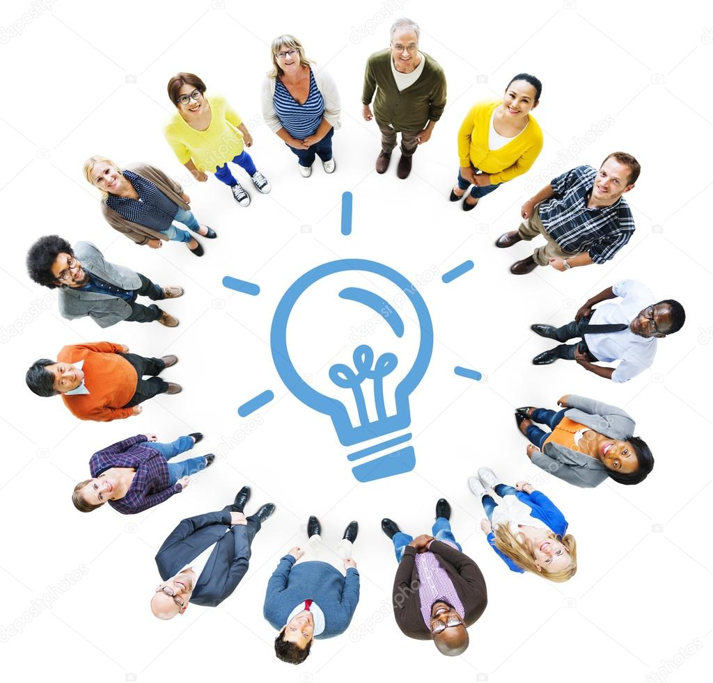 People And Light Bulb Symbol Stock Photo Rawpixel 52452269