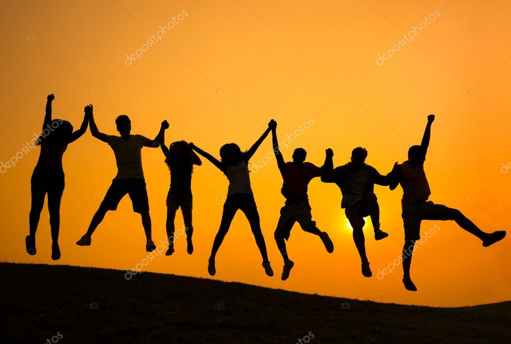 People celebrating Success