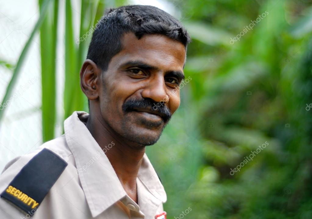 Indian man in security uniform