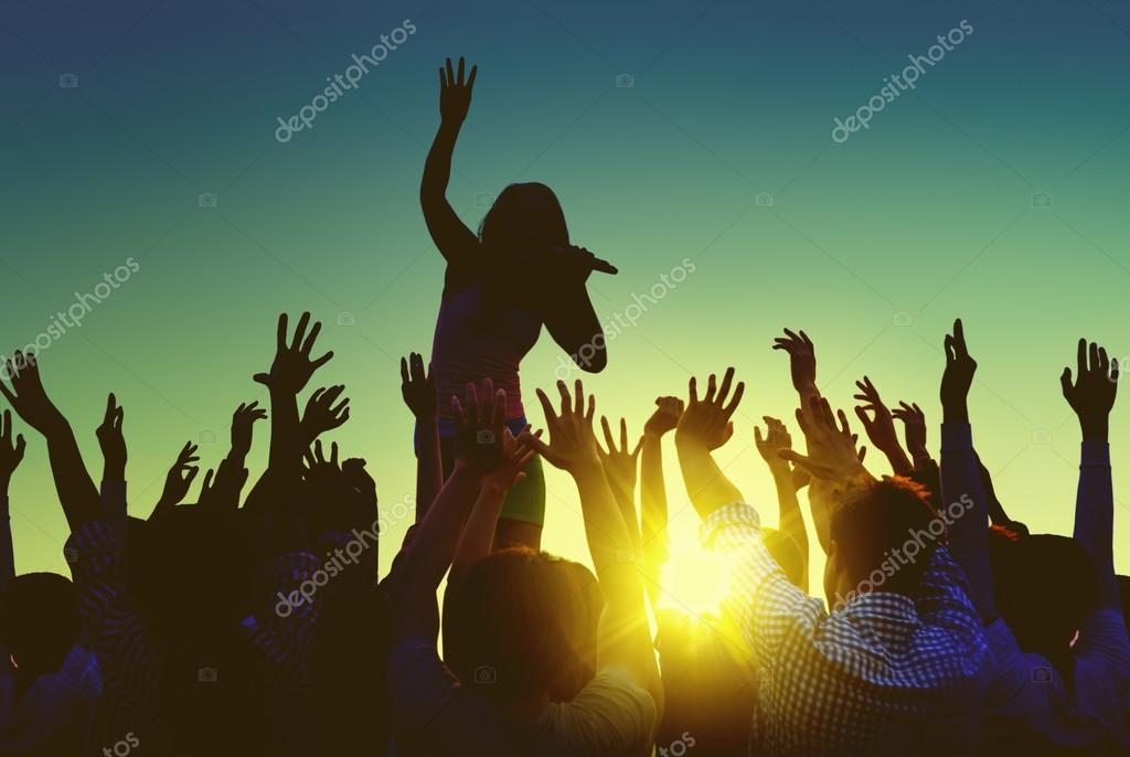 People at Outdoors Music Festival