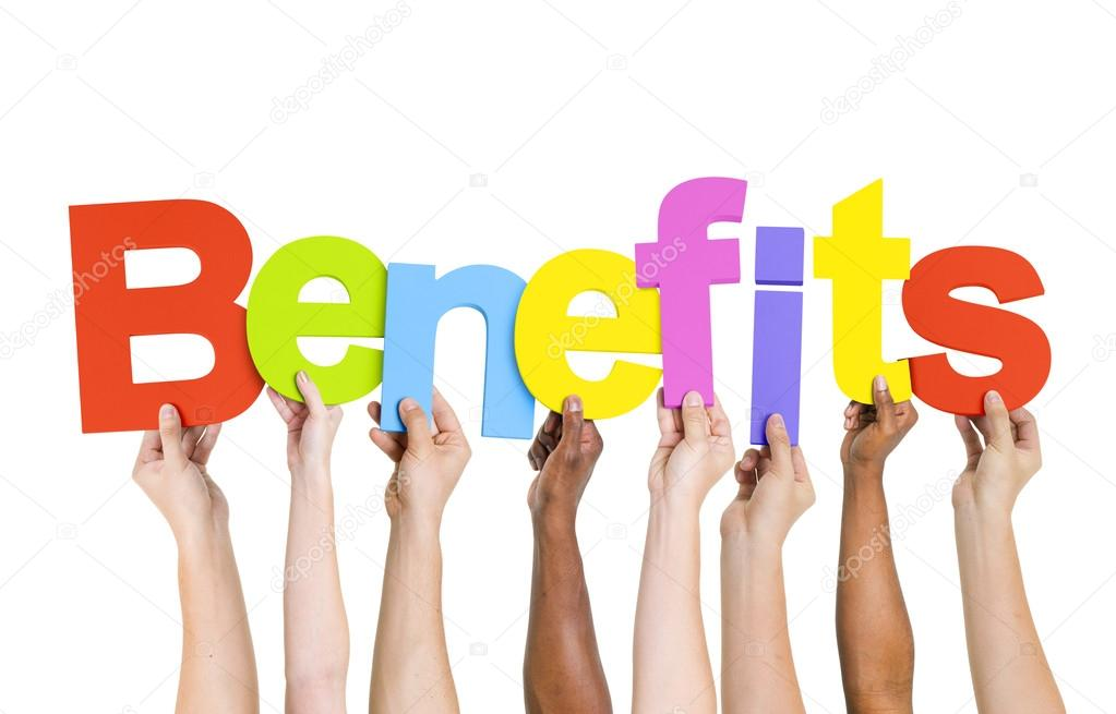 People Holding Word Benefits