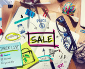 Notizbuch mit Verkauf-Konzepte