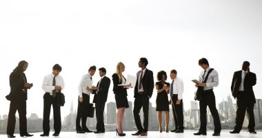Group of New York office workers