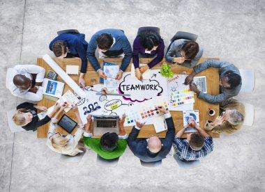 Multiethnic Business People Teamwork