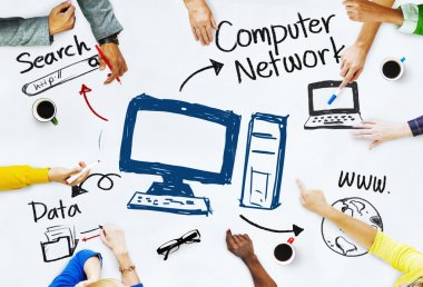 People with Computer Network Concept
