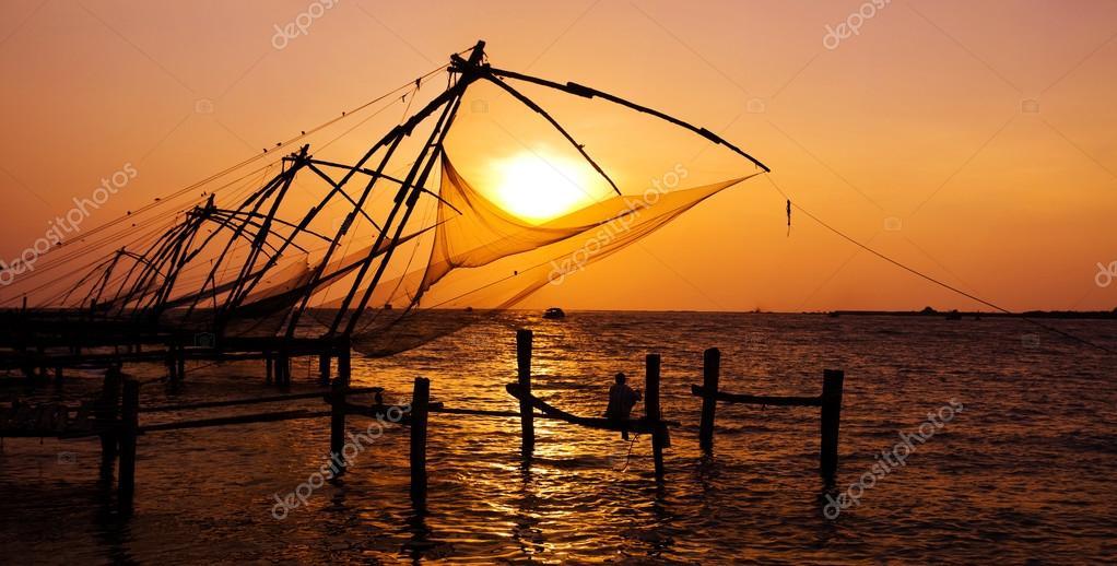 Indian man fishing
