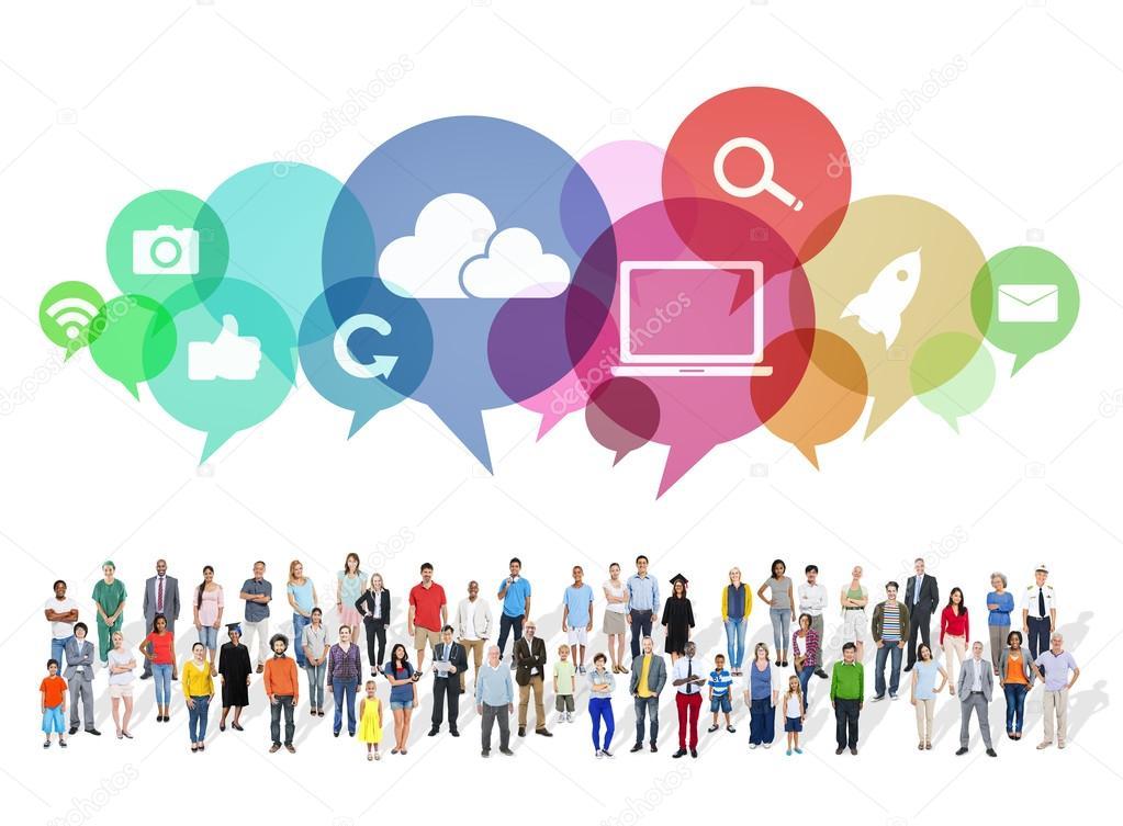 medios de comunicación social casual grande