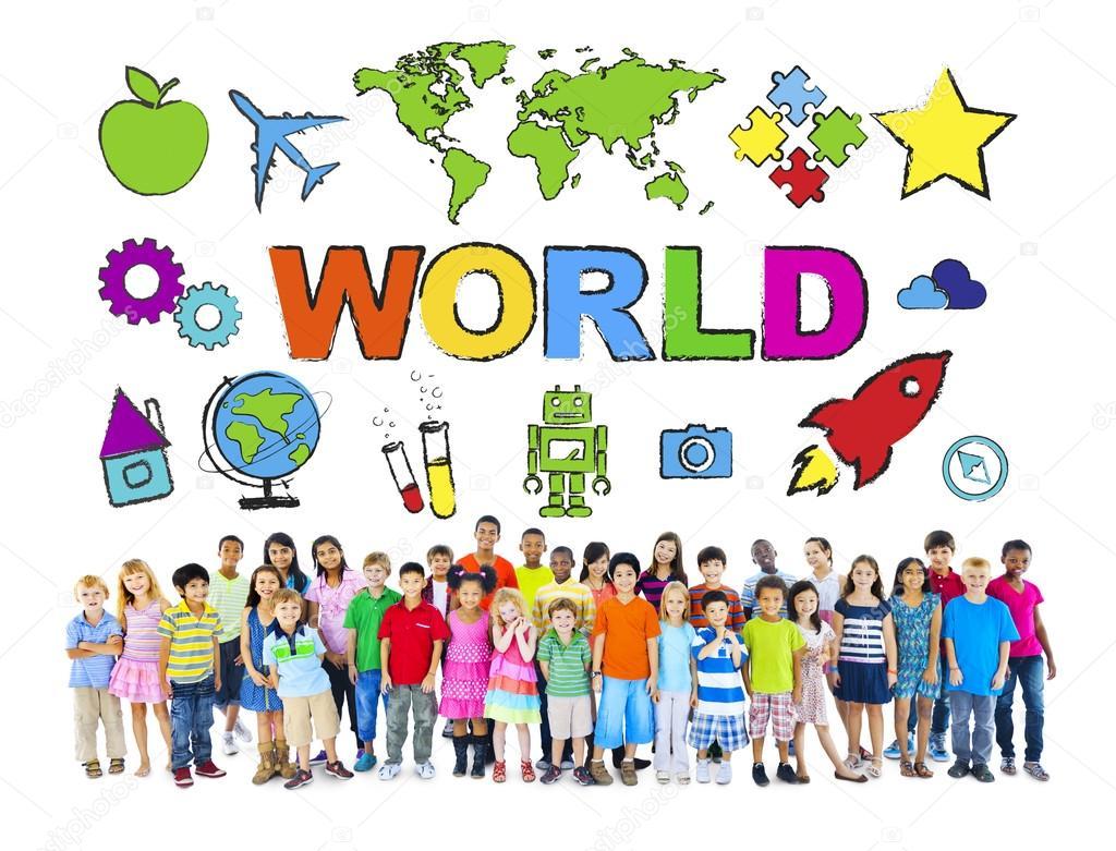 Exceptionnel d'enfants du monde diversifié — Photo #52464743 LC61