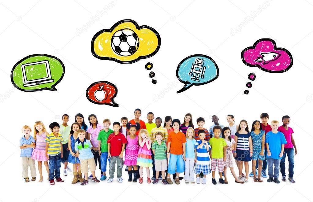 Top Grote groep van multi-etnische kinderen jeugd activiteiten  @CK99