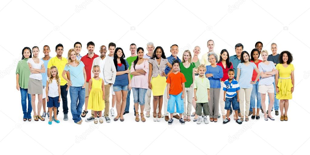 Diverse Colorful Happy People