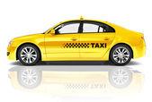 Fotografie Žlutá Sedan Taxi auto