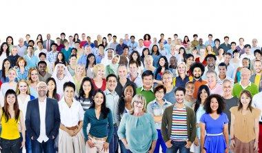 LDiverse Multiethnic Cheerful People