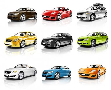 Collection of 3D Cars