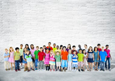 Multi-Ethnic Happy Children