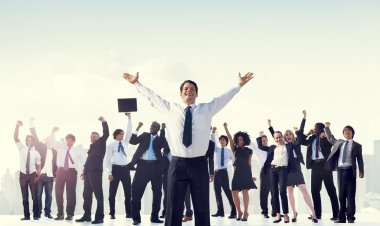 Business People Celebrating Success