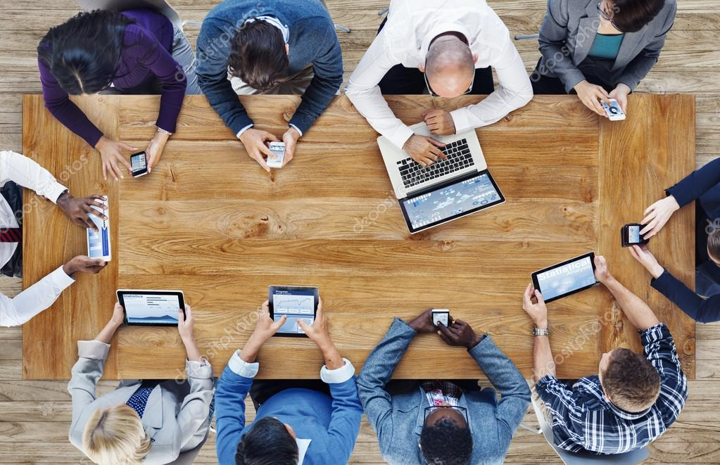 Business People Using Digital Devices