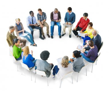 Group of People Brainstorming
