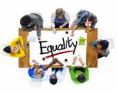 People Brainstorming about Equality Concept