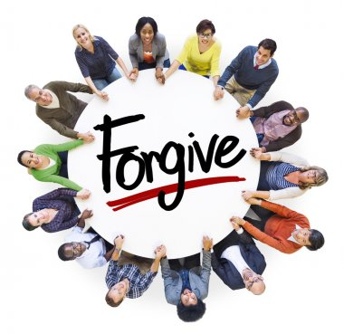People around Forgive Concept