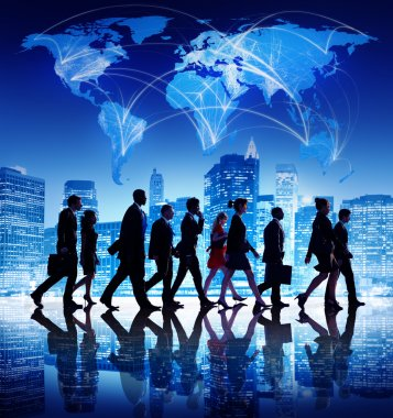 Business People Walking in New Yourk
