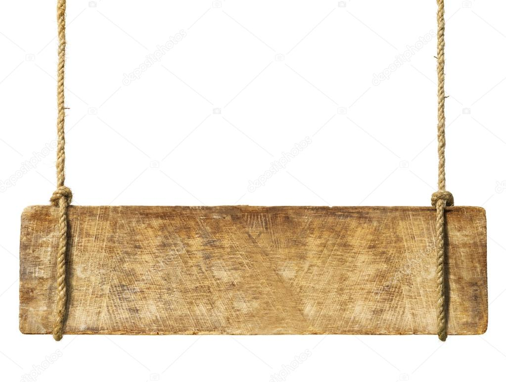 wooden sign hanging from ropes stock photo rawpixel. Black Bedroom Furniture Sets. Home Design Ideas