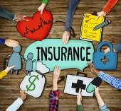 Fotografie Hands Holding Insurance Text