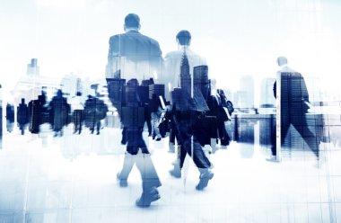 Business People Walking on Street