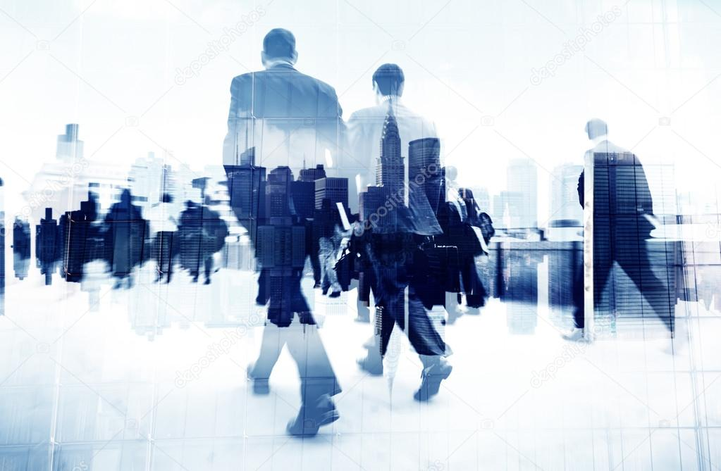 Business People Walking on Street
