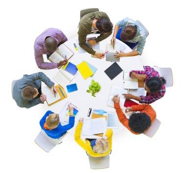 Diverse People Brainstorming in Team