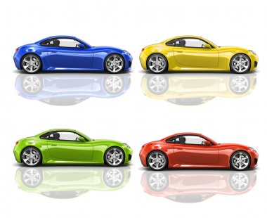 Collection of 3D Modern Cars