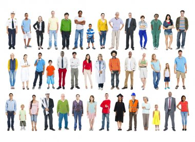 People of different ages, professions and nationalities