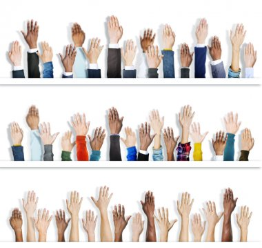 people with Hands Raised