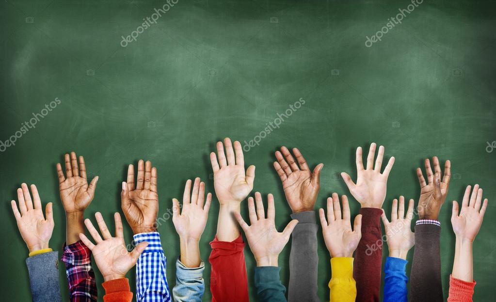 Multiethnic Diverse Hands Raised