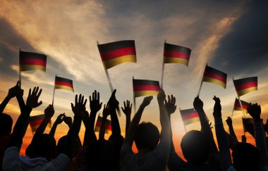 People Holding Flags of Germany
