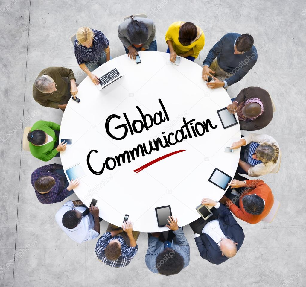 People and Global Communications Concept