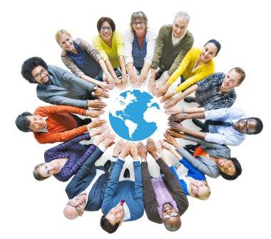 People and Globe Symbol