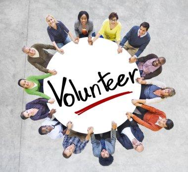 People Around the word Volunteer