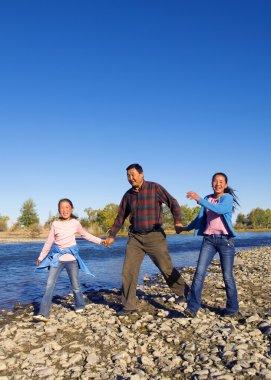 Mongolian Family Camping