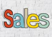 The Word Sales on  Brick Wall