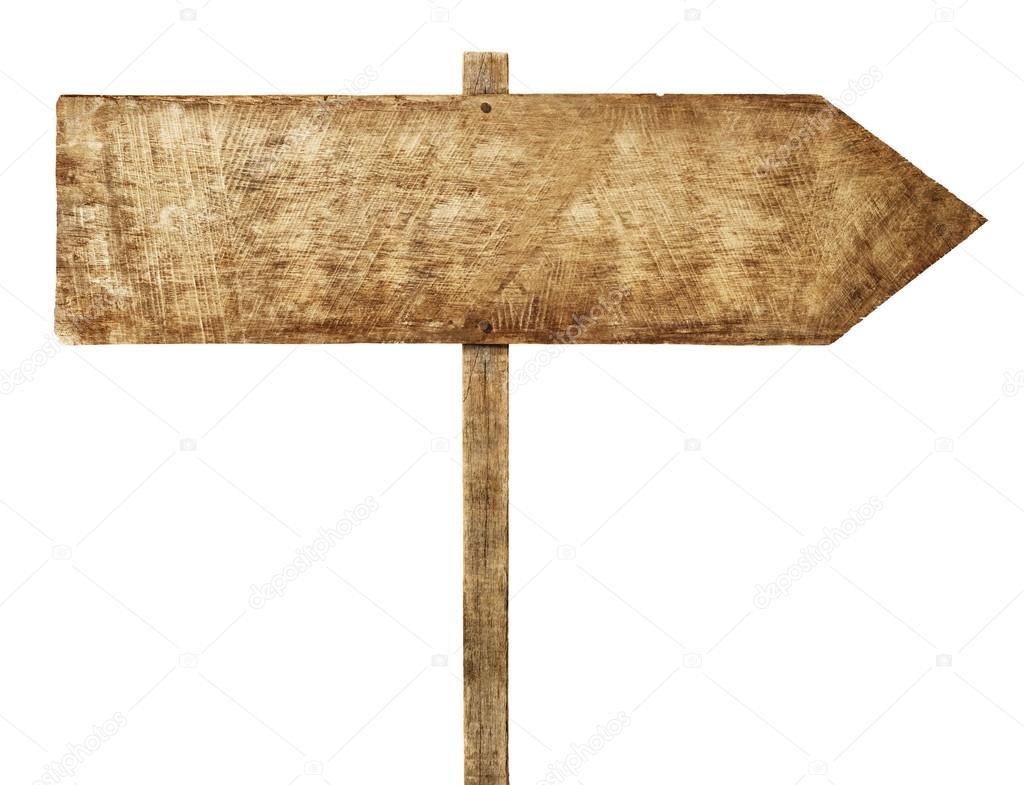 Wooden arrown sign