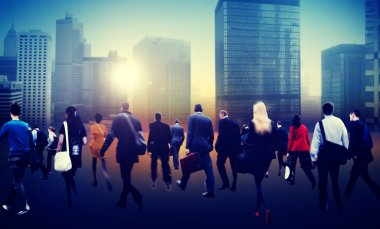 People walking in Commuter Business District